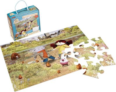 Abney & Teal Double-Sided Floor Puzzle - 24 Piece