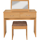 more details on Cheval Dressing Table, Stool and Mirror - Beech Effect.