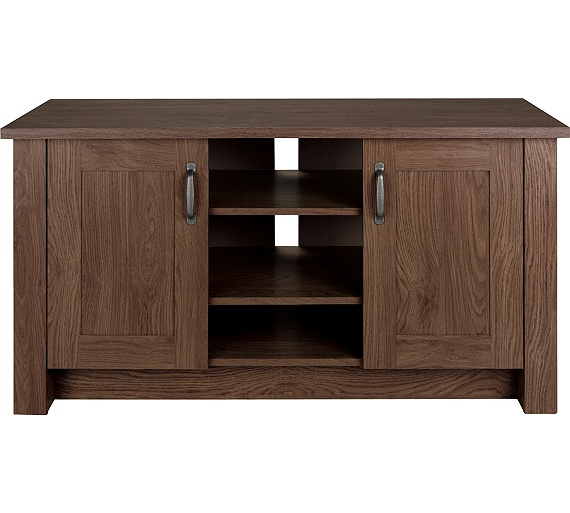 Buy collection ohio 2 door tv unit low sideboard walnut Walnut effect living room furniture