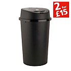 more details on 45 Litre Touch Top Kitchen Bin - Black.
