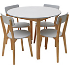 more details on Hygena Rye White Dining Table and 4 Chairs.
