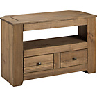 more details on HOME Amersham 2 Drawer TV Unit - Dark Solid Pine.