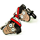 more details on Mustard Where's Wally Cufflinks.