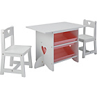 more details on Mia Table and Chairs - White