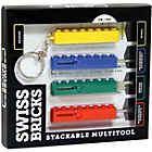 more details on Swiss Bricks Multi-Tool Set, 4 Pieces - Multicoloured.