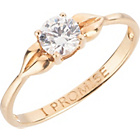 more details on 9ct Gold Cubic Zirconia 0.50ct Look 'I Promise' Ring.