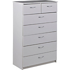 more details on Cheval 5+2 Drawer Chest - White.