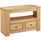 more details on Amersham 2 Drawer TV Unit - Light Solid Pine.