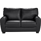 more details on HOME Stefano Regular Leather and Leather Effect Sofa - Black
