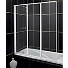 more details on Fully Framed White 3 Fold Shower Screen