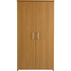 more details on Walton Tall 2 Door Cupboard - Oak Effect.