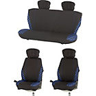 more details on Check Car Seat Covers - Blue.