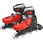 more details on Monster Medium Inline Skates - Red and Black