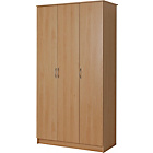 more details on Collection Cheval 3 Door Wardrobe - Beech Effect.