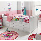 more details on Finn 6 Drawer White Cabin Bed with Bibby Mattress.