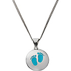 more details on Sterling Silver Baby Footprints Disc Pendant.