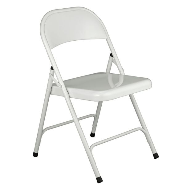 buy habitat macadam white metal folding chair at your online shop for dining. Black Bedroom Furniture Sets. Home Design Ideas