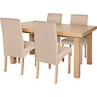 more details on Collection Cosgrove Ext Dining Table & 4 Chairs - Oak Stain.