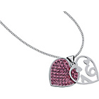 more details on Sterling Silver Pink Crystal 16th Heart Pendant.