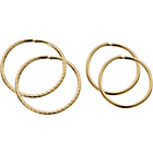 more details on 9ct Gold Sleeper Earrings - Set of 2 Pairs.