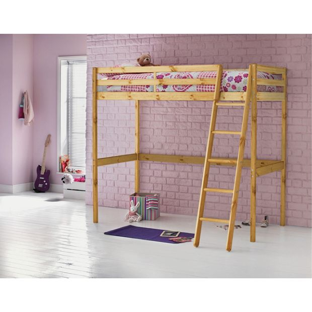 Buy Home Wooden High Sleeper Single Bed Frame Pine At