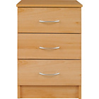 more details on Cheval 3 Drawer Bedside Chest - Beech Effect.
