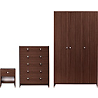 more details on Seville 3 Piece 3 Door Wardrobe Package - Wenge Effect.