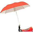 more details on Buggy Brolly Height Adjustable Umbrella - Coral.