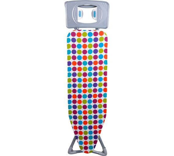 buy colourmatch 120 x 45cm spots ironing board at. Black Bedroom Furniture Sets. Home Design Ideas