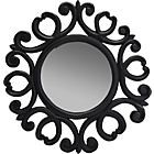 more details on Ornate Round Wall Mirror - Black.