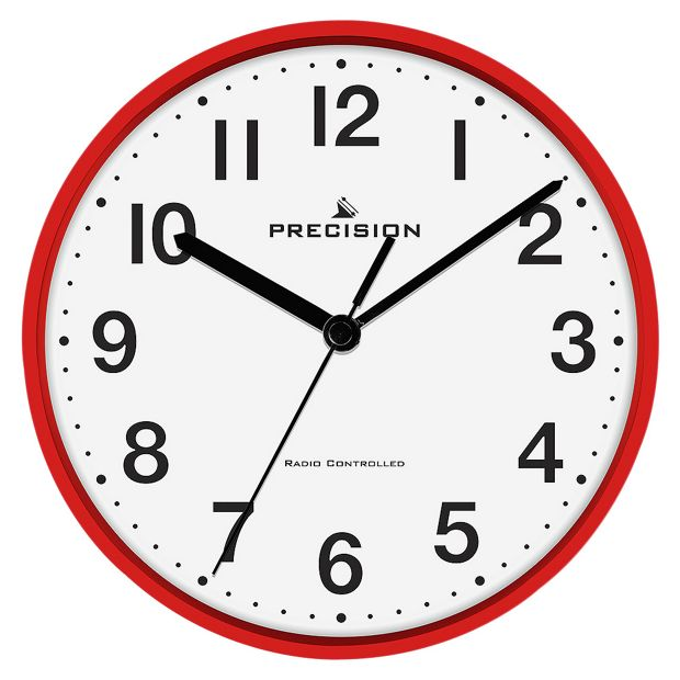 Buy Precision Radio Controlled Wall Clock Red At Argos