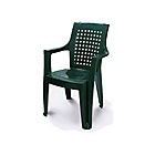 more details on High Back Stacking Garden Chair - Green.
