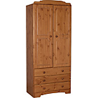 more details on Nordic 2 Door 3 Drawer Wardrobe - Pine.