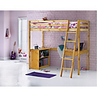 more details on Wooden Pine High Sleeper Single Bed Frame with Storage.