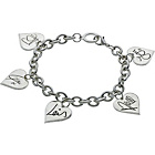 more details on One Direction Charm Bracelet with Name Hearts.