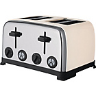 more details on ColourMatch Stainless Steel 4 Slice Toaster - Cream.