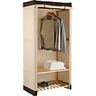 more details on Polycotton and Pine Single Wardrobe - Cream & Chocolate.