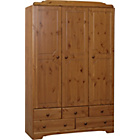 more details on Nordic 3 Door 5 Drawer Wardrobe - Pine.