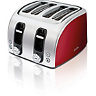 more details on AEG AT7104R-U 4 Slice Toaster - Red.
