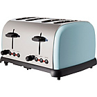 more details on ColourMatch St/Steel 4 Slice Toaster - JellyBean Blue.