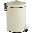 more details on Habitat Sesamee 5L Metal Bathroom Bin - Cream.