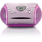 more details on Lenco Portable CD Player - Pink.