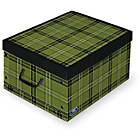 more details on Tartan Matching Cardboard Box with Handles.