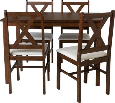 Buy HOME Ava Dining Table and 4 Chairs Solid Walnut  : 1586554RSETTMBampwid620amphei620 from www.argos.co.uk size 620 x 620 jpeg 44kB