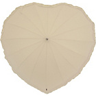 more details on Frilly Heart Umbrella - Ivory.