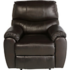 more details on Fabian Leather Recliner Chair - Chocolate.