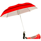 more details on Buggy Brolly Height Adjustable Vented Umbrella - Red.