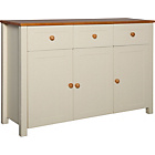 more details on Haversham 3 Door 3 Drawer Sideboard - Antique Pine and Cream