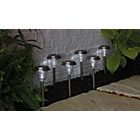 more details on Stainless Steel Solar Lights - Set of 6.
