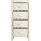 more details on Polycotton and Pine 4 Drawer Storage Unit - Cream.